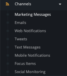 Channels - Marketing Messages
