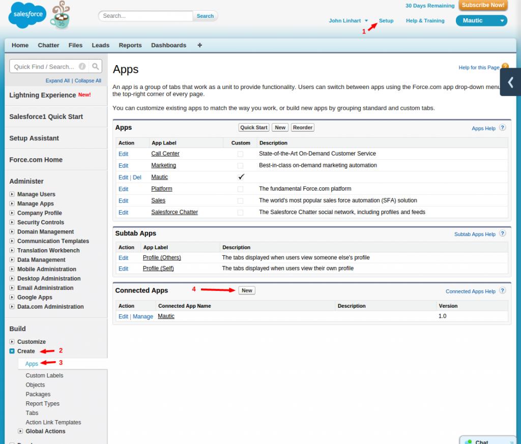 Salesforce Integration - Mautic