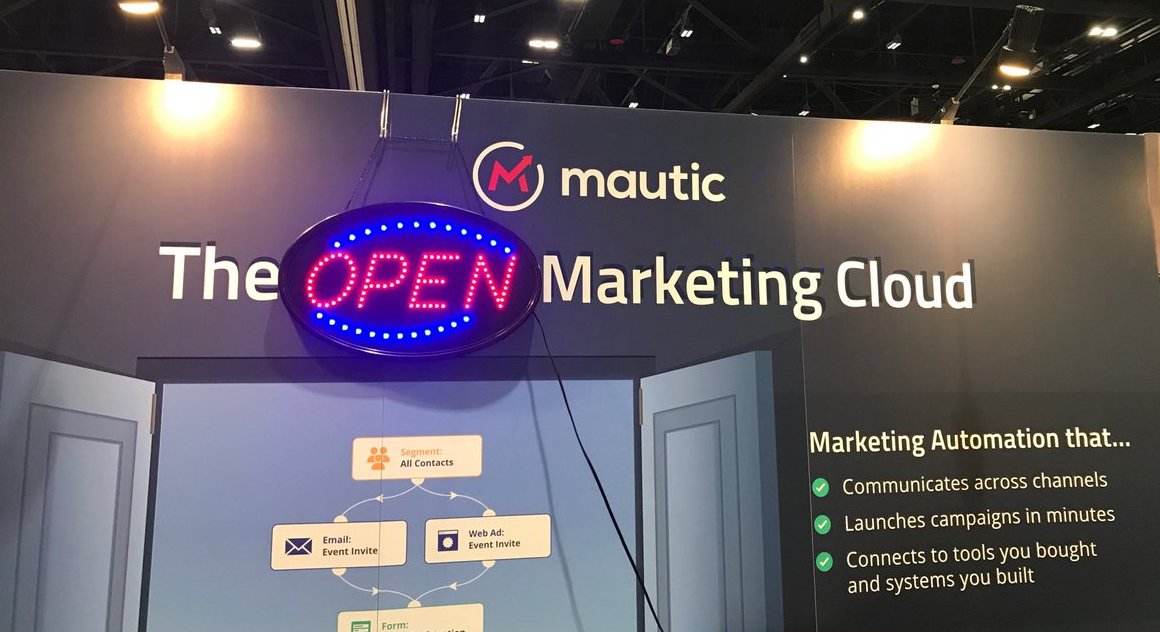 Mautic's Booth at MarTech West
