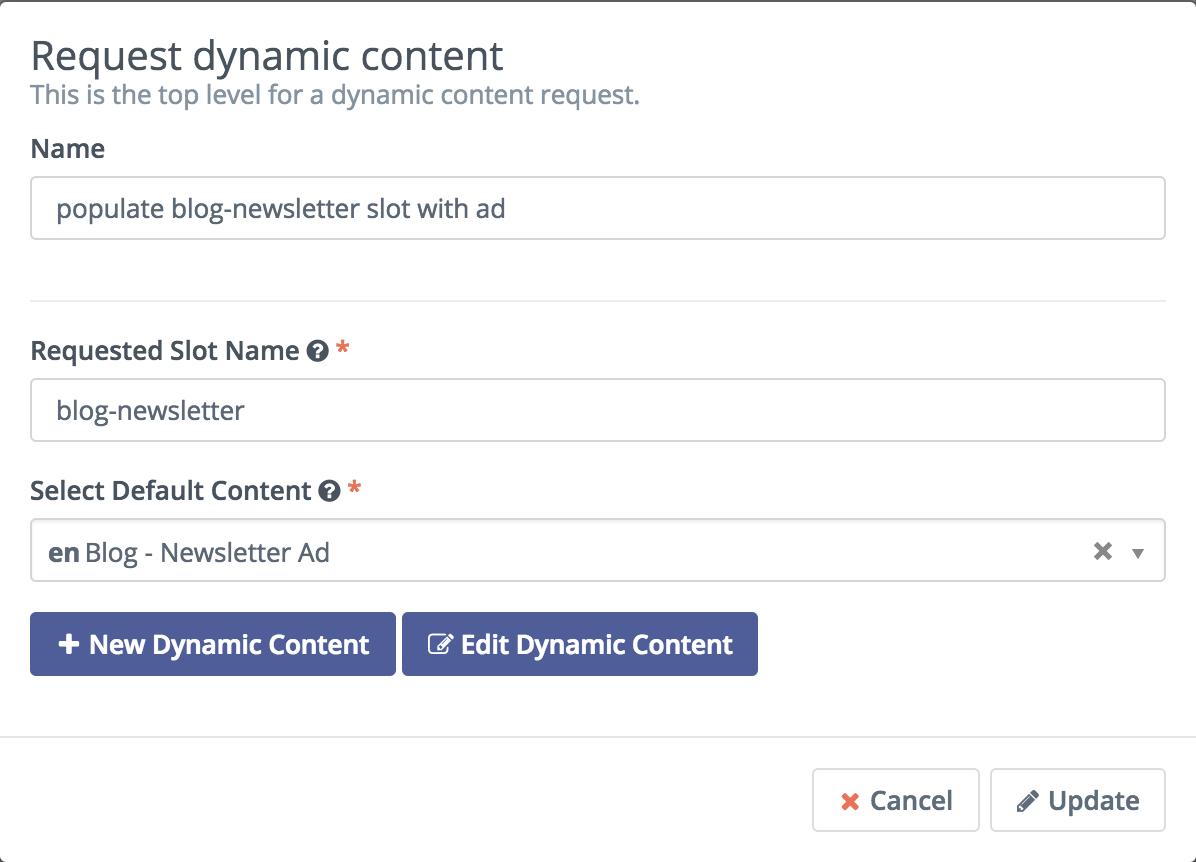 Mautic Dynamic Content - Request Dynamic Content Action