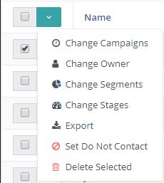 Contacts - Batch Actions
