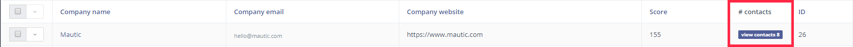 Companies - View Contacts