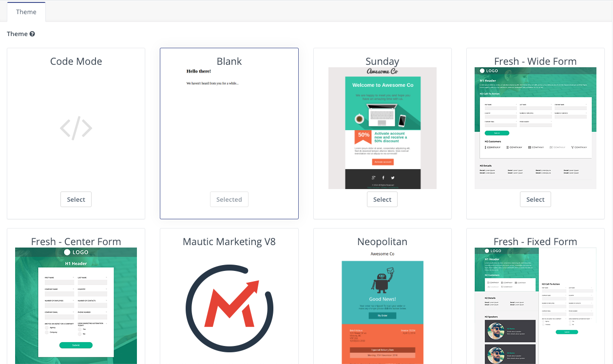 Landing Pages - Themes