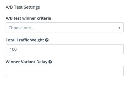 Segment Email - A/B Testing