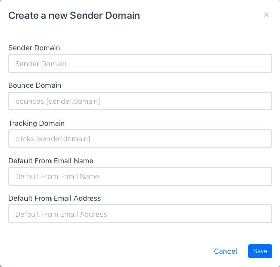 Create Sender Domain