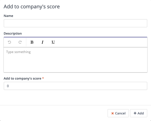 Form Action - Company Score